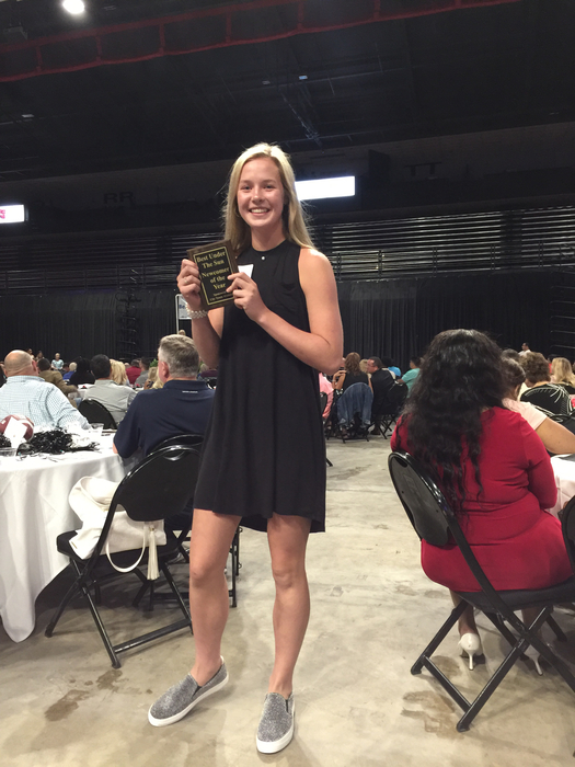 Abby wins Newcomer of the Year!